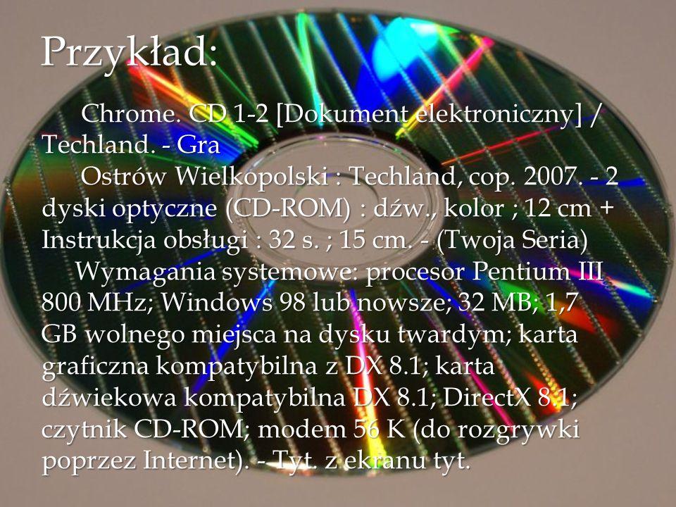 Przykład: Chrome. CD 1-2 [Dokument elektroniczny] / Techland. - Gra